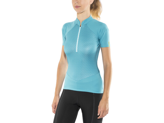 Mavic Sequence Graphic Bike Jersey Shortsleeve Women turquoise